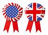 ID 4648148 | Britische Großbritannien und USA Garantiesiegel mit Bändern Satz | Foto mit hoher Auflösung | CLIPARTO