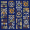 Tło z elementami afrykańskiej ornament | Stock Vector Graphics