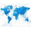 Mapa świata z największymi miastami | Stock Vector Graphics