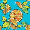Pomarańczowy wzór bez szwu | Stock Vector Graphics