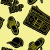 Hip-Hop-Musik seamless pattern