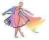 Woman dances, ballerina, | Stock Vector Graphics