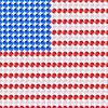 Flagge USA Vereinigte Staaten von Amerika von LEDs