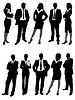 Business-Menschen, Silhouetten