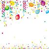 Luftballon, Konfetti, Partyhintergrund