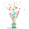 Balony, konfetti party background | Stock Vector Graphics