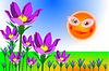 Sonne und Blumen Hintergrund