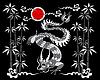 Drachen auf einem schwarzen Hintergrund