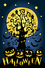 Szczęśliwa karta halloween | Stock Vector Graphics