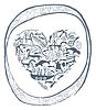schamanischen Herz in ornamentalen Kreis