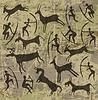 Hintergrund mit Petroglyphen