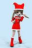 3d anime dziewczyna w stroju Bożego Narodzenia | Stock Illustration