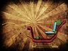 Santa Schlitten auf Grunge-Hintergrund | Stock Illustration