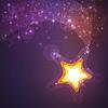 Leuchtende Sterne Hintergrund | Stock Illustration