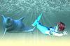 ID 4622149 | Meerjungfrau-Mädchen mit Delfinen | Illustration mit hoher Auflösung | CLIPARTO