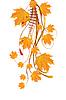 Herbst Ornament mit Ahornblätter