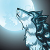Howling Wolf-Kopf | Stock Vektrografik