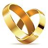 Goldene Eheringe | Stock Illustration