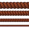 Brown Seil in vier Größen | Stock Vektrografik