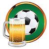 Bier und Fußball- | Stock Vektrografik