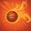 Feuer Basketball-Ball