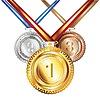 Golden, Silber und Bronze-Medaille | Stock Vektrografik