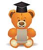 Teddybär in Abschluss-Hut | Stock Vektrografik