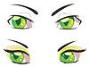 Cartoon Grüne Augen