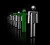 3D hombre verde, símbolo de la ecología | Ilustración