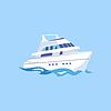 Zwei-Deck-Schiff auf dem Wasser