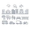 Verkehr und Stadtverkehr Infografik