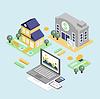 Bankkredit und Home Loan-Konzept mit isometrischen