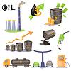 Ölproduktion Infographic Elemente