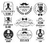 Weinlese-Gentlemen Club Logos Set