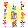 Circus Kollektion mit Karneval, Kirmes, Symbole