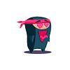 Nette Emotional Ninja In Love mit geöffnetem Mund