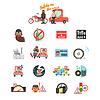 Motorrad und Auto-Sicherheits-Antrieb Regeln. Set