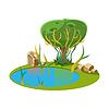 Insel mit See und Baum