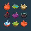 Isometrische Inseln Elemente für Spiele