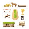 Pferd Sport Icons Set