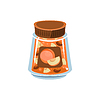 Aprikosen-Marmelade In Transparent Jar