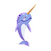 Blue Narwhal Icon