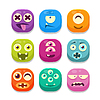 Monster Emoji Icons Collection