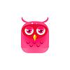 Rosa Sad Owl Küken Square Icon