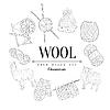 Wolle Vintage-Skizze