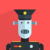 Militär Offizier Roboter-Zeichen