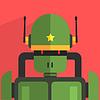 Soldat Roboter-Zeichen