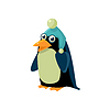 Pinguin-tragender Winter-Hut
