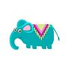 Elephant Wearng Pferdedecke