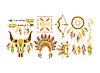 American Indian ethnische Elemente Boho Style Design